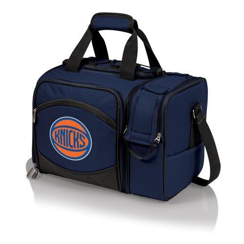 New York NY Knicks Picnic Basket Set For 2 Wine Tote