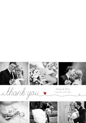 Wedding Thank You Cards w/ Photos From Your Big Day & Personalized Message - Optimalprint US