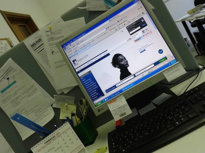 La mia scrivania ..