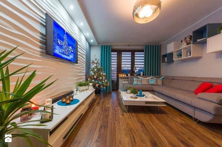 Mieszkanie Siedlce - Średni salon, styl nowoczesny - zdjęcie od zaneta-jastrzebska