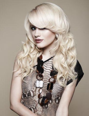 """Model wears - Flip-In Hair 16"""" Bodywave"""