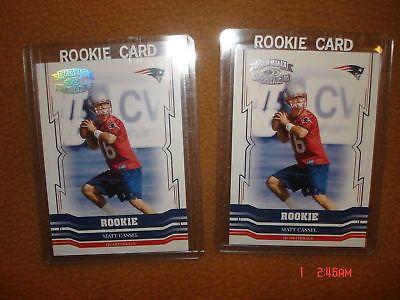 Matt Cassel Rookie 2005 Throwback Threads Holofoil #/99 Rookie 2 Card Lot
