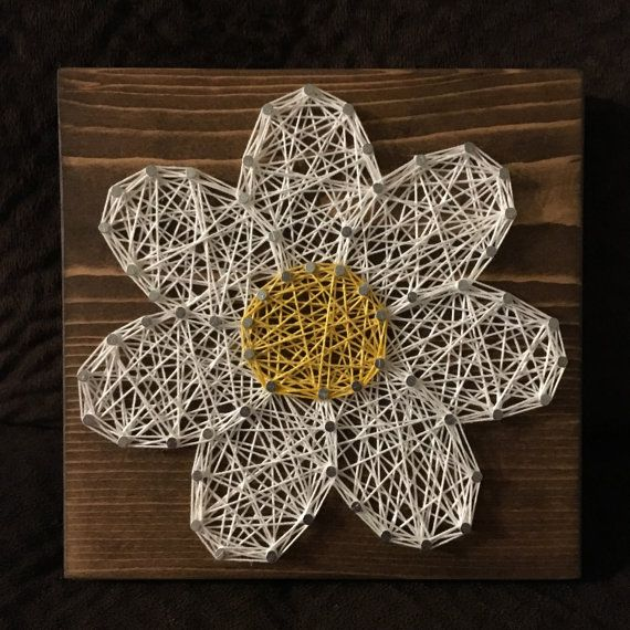 CUSTOM Flower/Daisy String Art, Floral Home Decor, Nursery Art, Gardening…