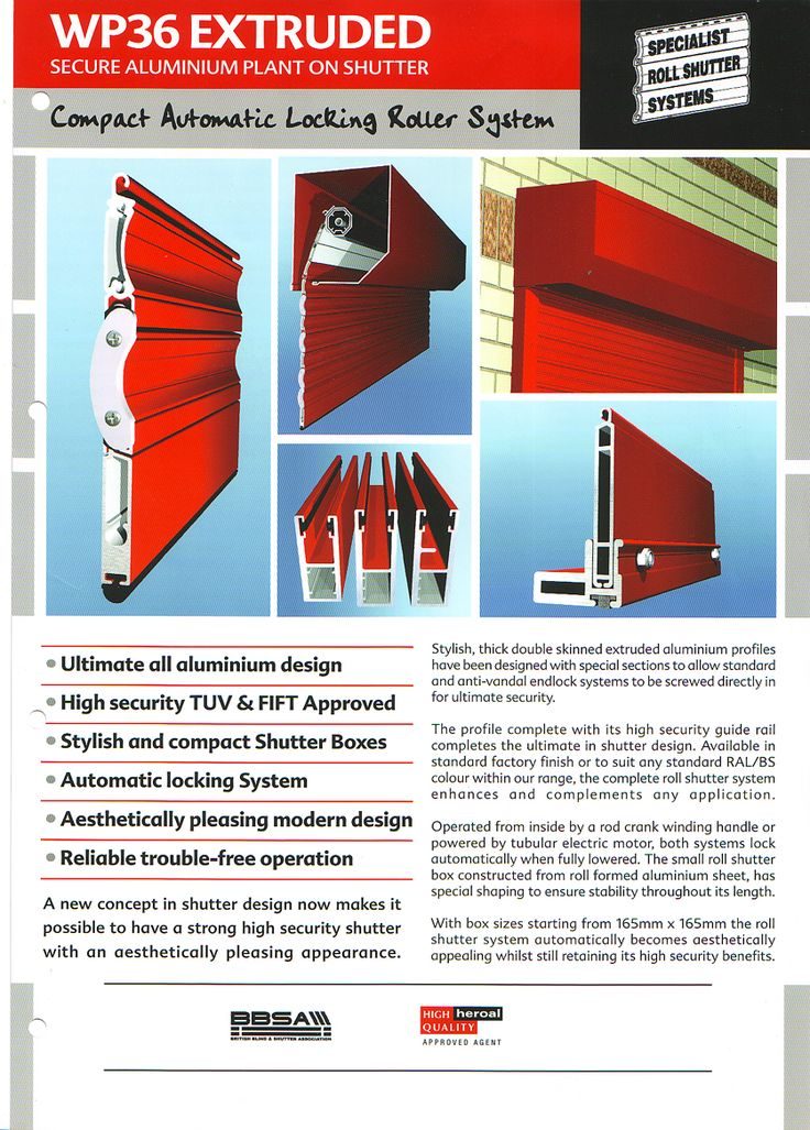 Our most popular WP36 Extruded Aluminium Shutter. One of the best security shutters on the market.  www.jordansofhull.co.uk