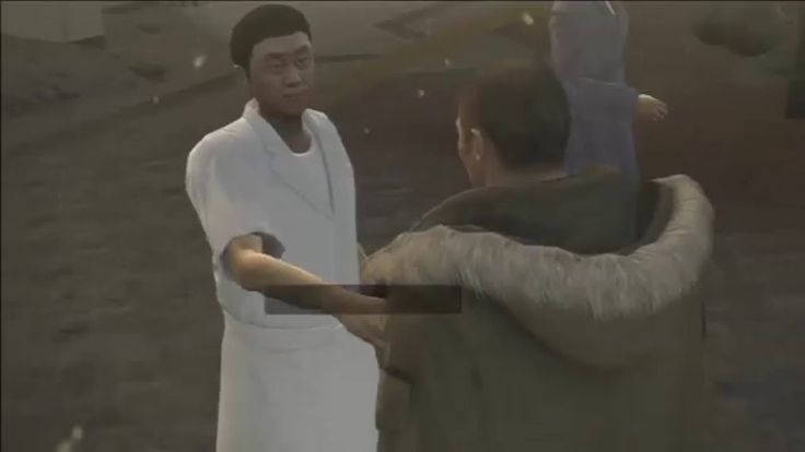 Yakuza 5: A game about the Japanese mafia has a minigame in which you deliver a bowl of ramen while avoiding pedestrians sliding on ice.