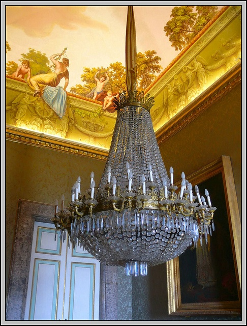 Caserta Royal Palace / Reggia di Caserta, Italy - chandelier by Mo Westein 1, via Flickr