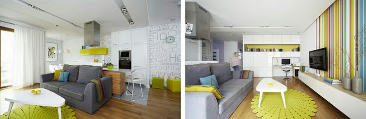 Позитивный дизайн проект трехкомнатной квартиры | HomeNiNo.ru - портал о дизайне интерьера