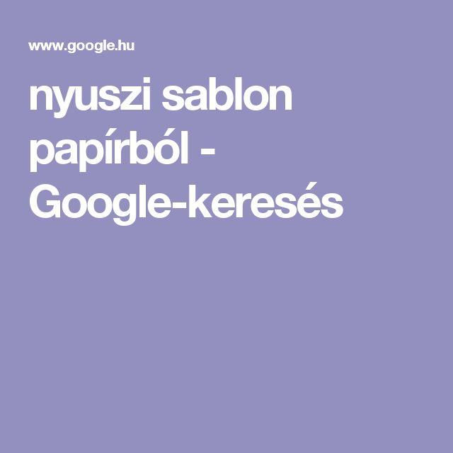 nyuszi sablon papírból - Google-keresés
