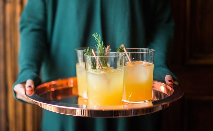 Smoochin' Under the Clock Tower: This contemporary punch from Chicago's Dustin Drankiewicz was inspired by the flavors of the Middle East, particularly those of popular dessert Balal El Sham, which features walnuts, honey and fruit.