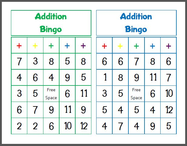 photo relating to Math Bingo Printable titled Math bingo quality 6