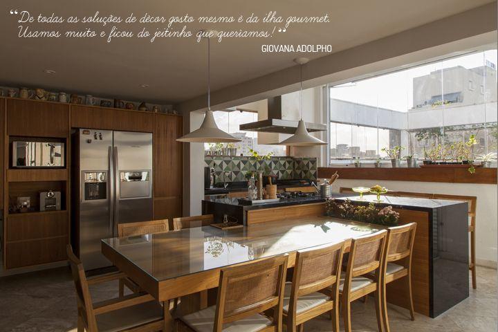 kitchen  AMD  Maria e Thiago  Pinterest  Mesas, Cozinhas e Nova # Cozinha Com Ilha E Mesa