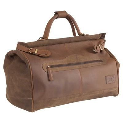 Gladstone Bag - Leather and Canvas