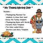 Are you looking for simple Thanksgiving Activities with cute clip art to engage your students? This package Includes : *  Thanksgiving Placemat for...
