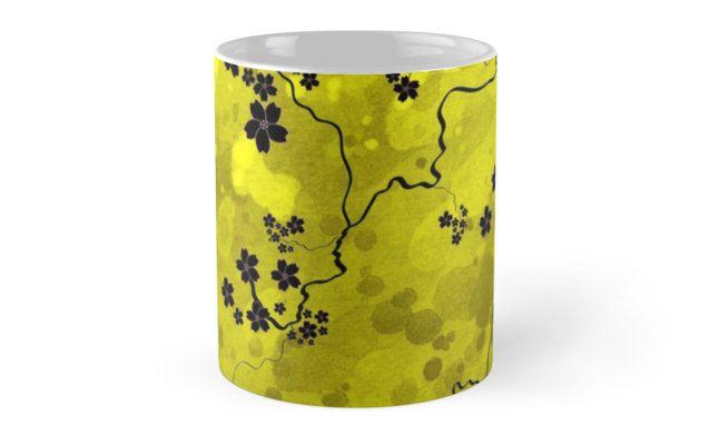 #Spring #Blossom #Mug by jollybirddesign #sakura #cherryblossom