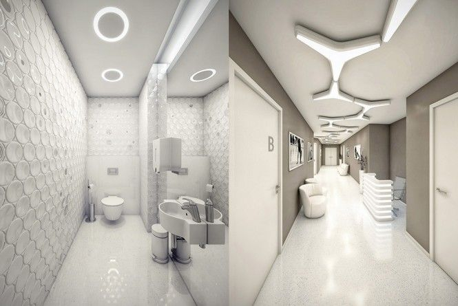 Surgery Clinic Interior by Geometrix - Hospital Toliet and Corridor