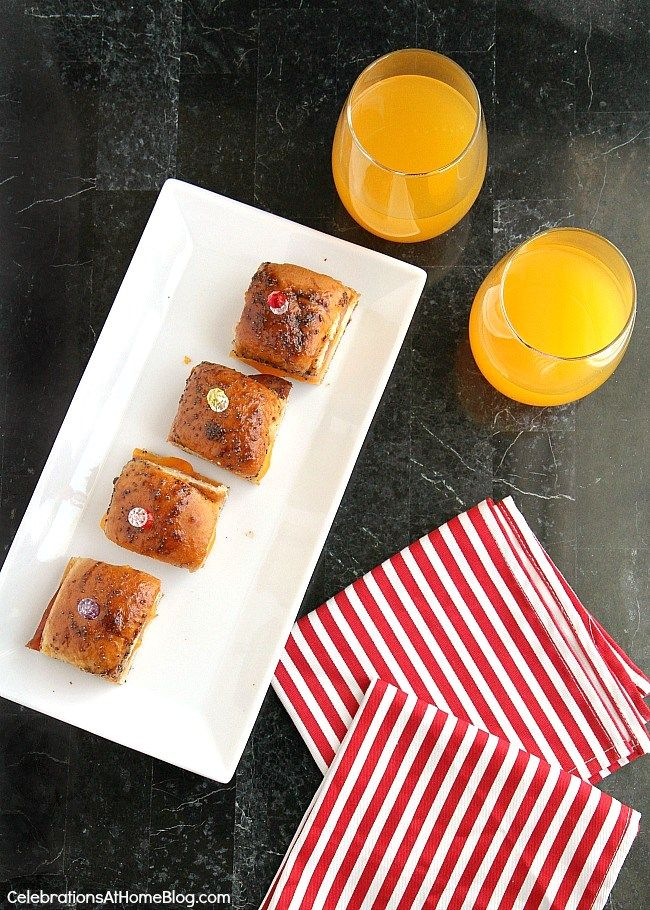 Mini Party Sandwiches with Brown Sugar Glaze - Celebrations at Home