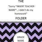 This product includes a cover and binder to slip into a folder in which you can keep copies of the included 'failure to complete homework log'. Thi...