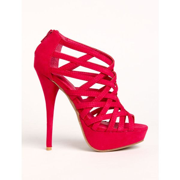 Criss Cross Strap Heels and other apparel, accessories and trends. Browse and shop related looks.