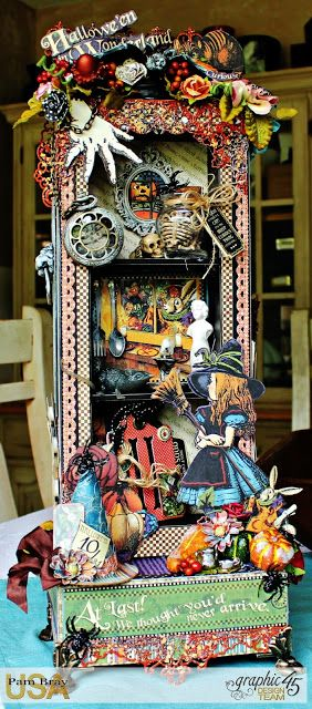 Scrapbook Flair: Pam Bray Designs: Happy Halloween Hall Tree with Tutorial with Graphic 45