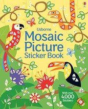 Mosaic picture sticker book 7+
