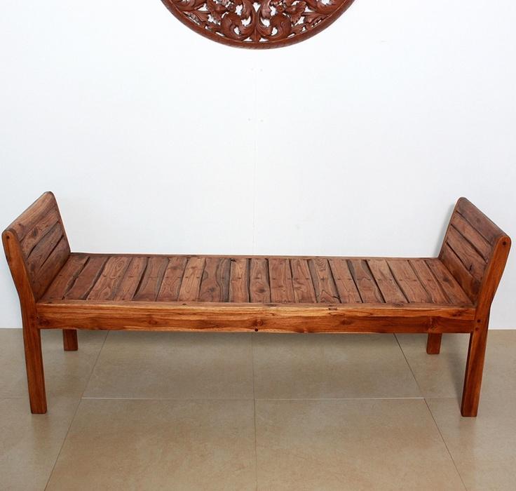 Wood bench|teak furniture|home|patio|outdoor Kan Thai Decor