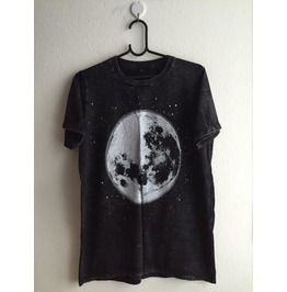 Moon Star Fashion Indie Pop Rock T Shirt Stone Wash M