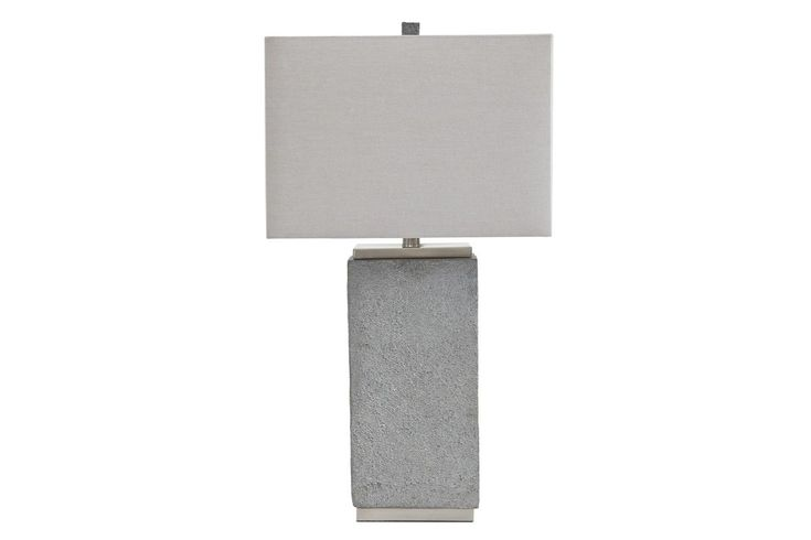 Faux Concrete And A Brushed Silver Finish Set The Amergin Table Lamps Apart  From The Rest