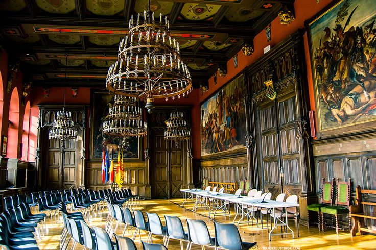 Inside the Hotel de Ville in Mons. FInd out about Belgium tourist attractions.