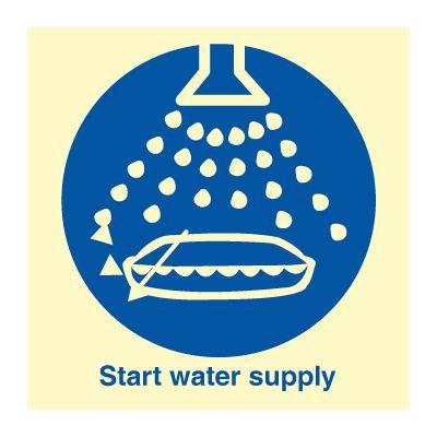 Start water supply