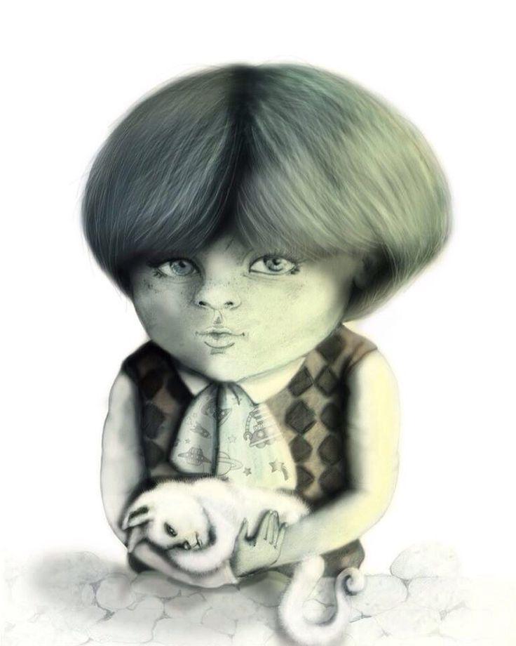 Selfportrait Illustration Pencil