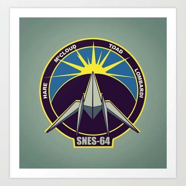 The Lylat Space Academy Art Print by John Medbury (LAZY J Studios)