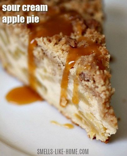 Sour Cream Apple Pie: When sliced apples are nestled in a custard-filled pie and piled high with giant crumbs, could you possibly choose pumpkin over apple pie?