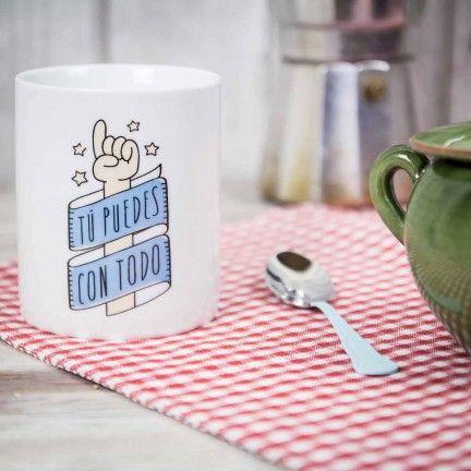 Taza Tú puedes con todo. Diseño de Mr.Wonderful. A la venta en: http://www.mrwonderfulshop.es