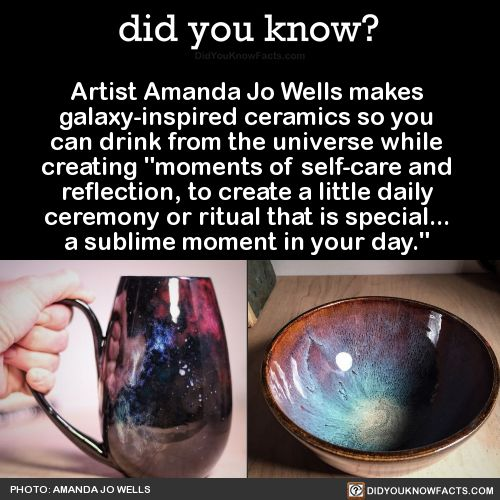 did you know? - Artist Amanda Jo Wells makes  galaxy-inspired...