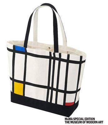 Piet Mondrian tote bags at Uniqlo
