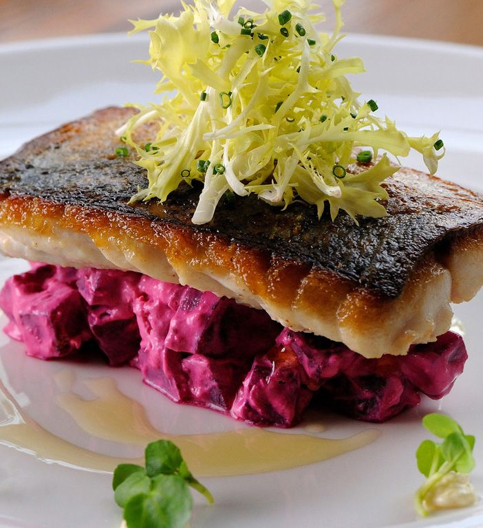 Dominic Chapman's seared mackerel recipe is quite a showstopper. Mackerel and horseradish complement each other beautifully, and the peppery watercress leaves provide a flavourful contrast to the main parts of the dish. The beetroot relish included in this recipe could work well as a colourful addition to other meals.