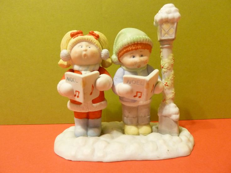 Figurine, Cabbage Patch Carolers by: Xavier Roberts by BjsDoDads on Etsy