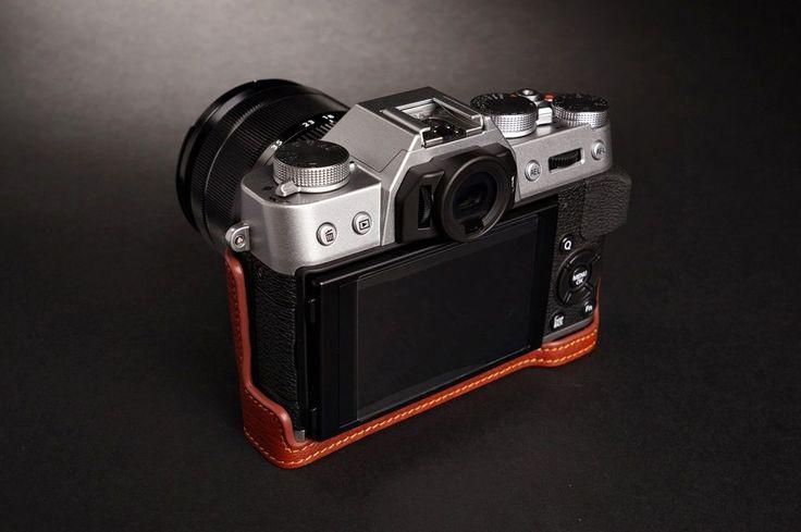 Handmade Genuine Real Leather Half Camera Case Bag Cover for Fujifilm x T10 XT10 | eBay