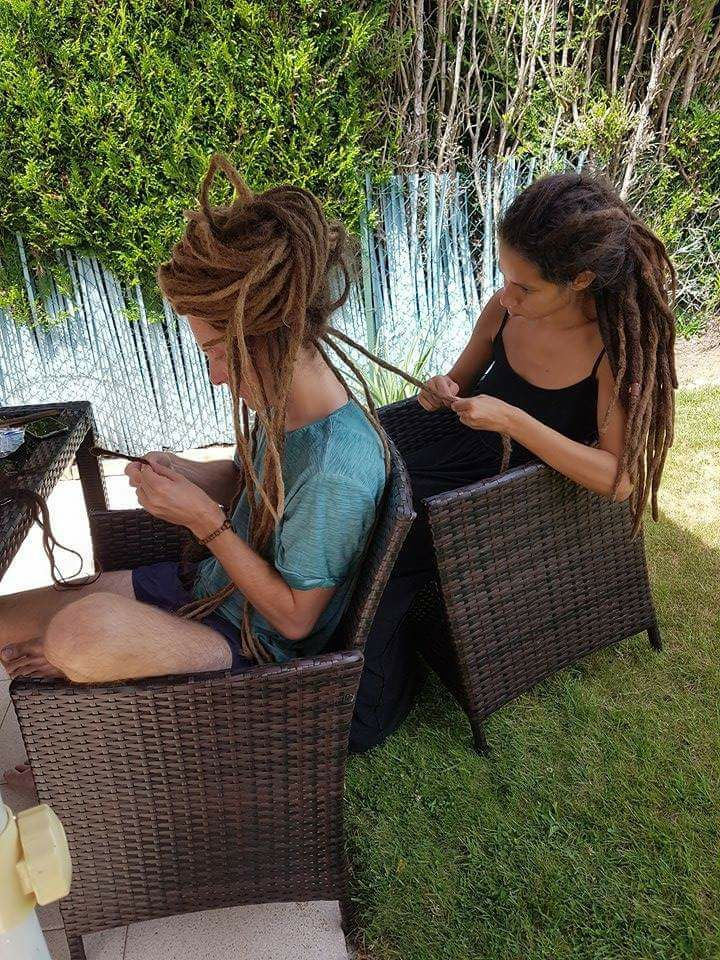 Dreads human hair extensions making :)https://www.etsy.com/au/listing/522029498/set-of-human-hair-dreads-extensions?ref=shop_home_active_1 #dreads#extensions#humanhair#dreadsextensions