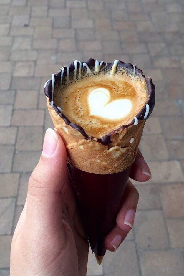 """Hailing from The Grind Coffee Company in Johannesburg, South Africa, coffee in a cone is the latest food trend that has people traveling from all over the place, and for good reason."" I'm intrigued!"