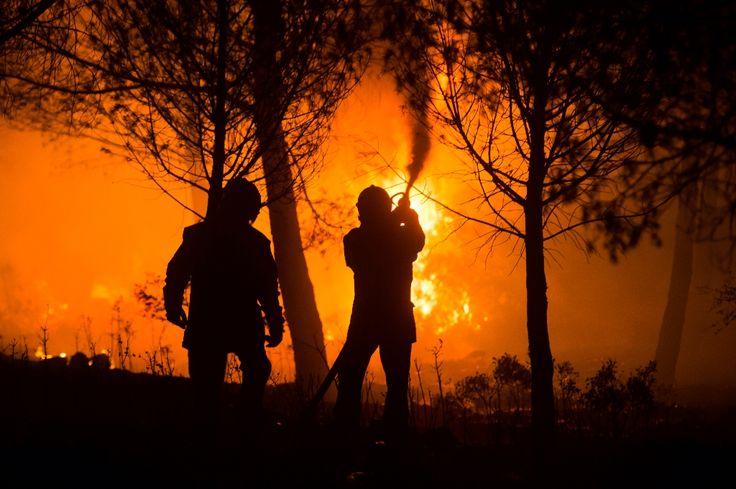 Plus de 400 hectares de forêt ont brûlé dans la nuit de samedi à dimanche après le déclenchement d'un violent incendie à Hyères, dans le Var, qui a notamment entraîné l'évacuation d'un camping et que les pompiers combattaient toujours dimanche matin.