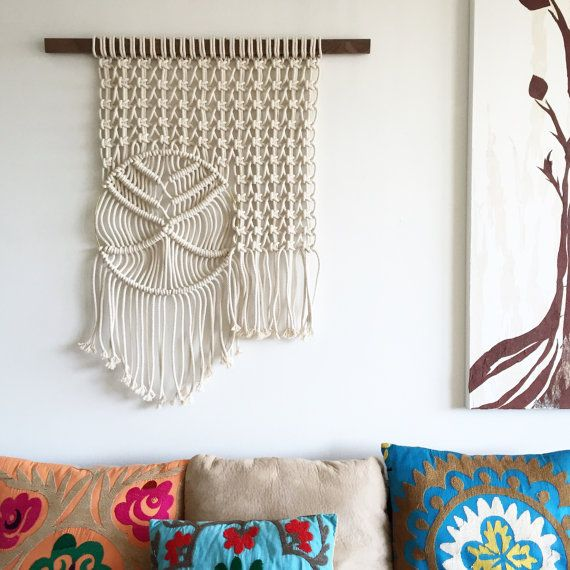 Wave in Calm Waters  Macrame Wall Hanging by amyzwikelstudio