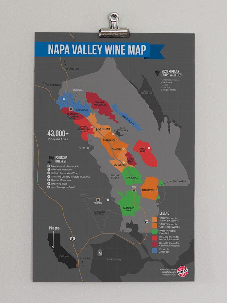 USA California North Coast Wine Map 28