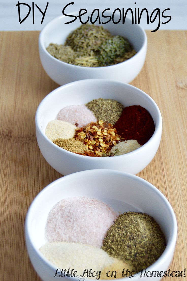 DIY Seasonings are a great way to control flavor, cost, and get creative with your food! We've got an Italian blend, Taco Seasoning, and Steak Seasoning