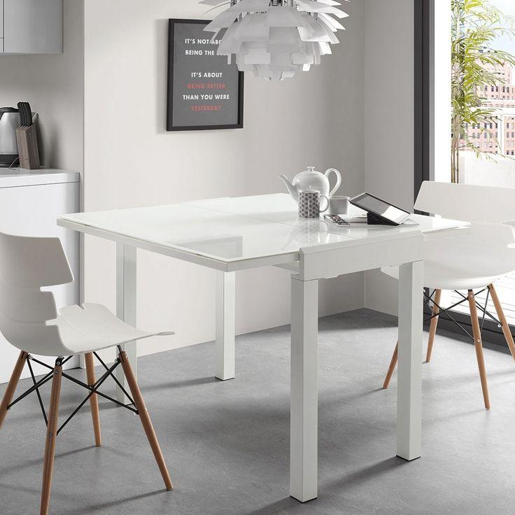 Mesa de comedor moderna extensible calenda for Mesas de comedor pequenas y extensibles