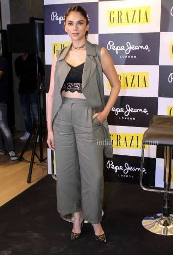 Hit: Aditi Rao Hydari looked pretty as ever in Marks & Spencer separates and…