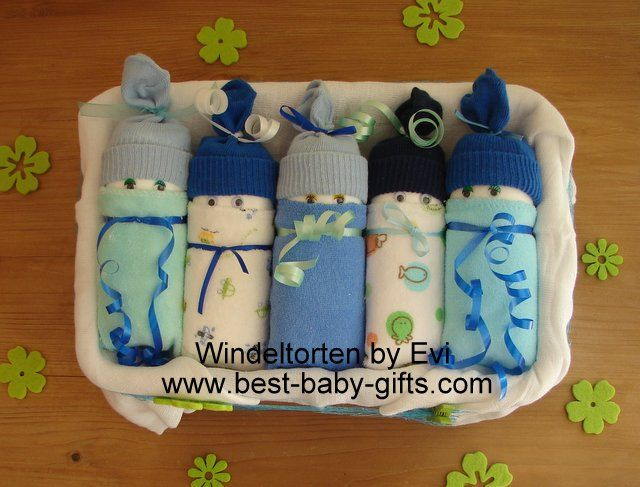 Unique Gift Ideas For Newborn Baby Boy : Diaper babies in a box for baby boy with instructions