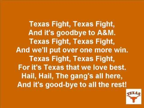 University of Texas Longhorns Fight Song