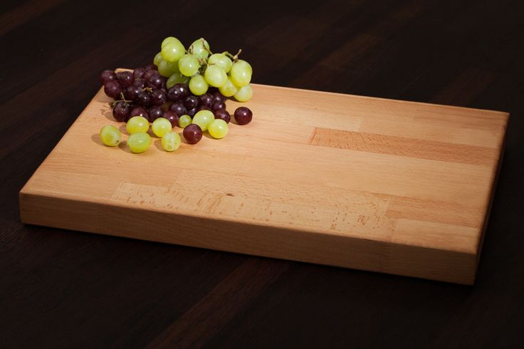 Not only is beech a fantastic value timber for creating solid wood kitchen worktops, its hard-wearing qualities also make for a great chopping board, too.  Ours measure 450mm X 300mm X 40mm in size and come pre-sanded and oiled, with a soft pencil edge profile applied on both the top and bottom: http://www.worktop-express.co.uk/worktop_accessories/Solid_Beech_Worktop_Chopping_Board.html