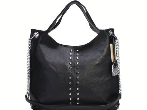 <3 Only $60.99, Cheap Michael Kors Silver Strass Decoration Black Bag Sale Online, You Can Get It At www.mkbagspro.com.